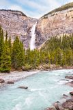 Takakkaw Falls in Yoho National Park, British Columbia, Canada stock image