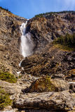 Takakkaw Falls in Yoho National Park in the Canadian Rockies Royalty Free Stock Image