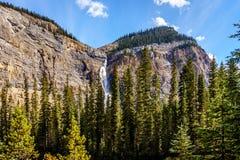 Takakkaw Falls in Yoho National Park in the Canadian Rockies Royalty Free Stock Image