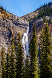 Takakkaw Falls in Yoho National Park in the Canadian Rockies Royalty Free Stock Photo