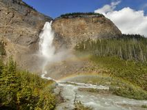 Takakkaw Falls in Yoho National Park Royalty Free Stock Photography