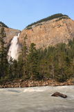 Takakkaw Falls and Yoho River Stock Photo