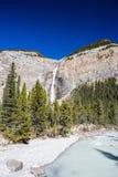 Takakkaw nedgångar, Yoho National Park, Alberta, Kanada Arkivbilder