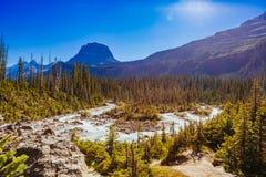 Takakkaw nedgångar, Yoho National Park, Alberta, Kanada Arkivfoto