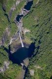 Takamaka-Wasserfälle Reunion Island stockbilder