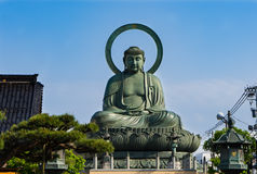 Takaoka Wielki Buddha lub Daibutsu Zdjęcie Stock