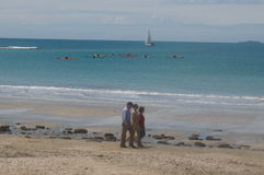 Takapuna plaża Fotografia Stock