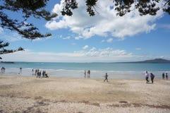 Takapuna strand Arkivfoton