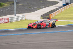 Takashi Kobayashi of AUTOBACS RACING TEAM AGURI in Super GT Fina Stock Photos
