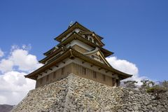 Takashima castle main keep Royalty Free Stock Photography