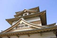 Takashima castle main keep (fragment) Royalty Free Stock Images