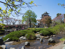 Takashima Castle in Suwa, Nagano, Japan Royalty Free Stock Image