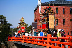 Μεγαλοπρεπές φεστιβάλ επιπλεόντων σωμάτων και μαριονετών Takayama Στοκ εικόνα με δικαίωμα ελεύθερης χρήσης