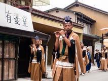 Takayama Autumn Festival parade on town streets Stock Photography