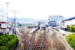 Takayama-Bahnstation Lizenzfreie Stockfotos