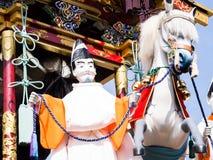 Takayama festival float carving Stock Image