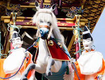 Takayama festival float carving Stock Photo