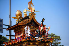 Takayama festival: puppets on majestic float Royalty Free Stock Photos