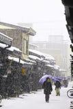 TAKAYAMA, JAPÓN - 19 DE ENERO: Takayama en la nieve una ciudad que Imagen de archivo