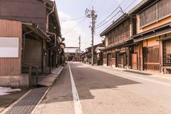 Takayama, JAPAN - ‎March 04, 2018: Die alte Stadt oder das traditiona Stockfoto