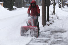 TAKAYAMA, JAPAN - 19. JANUAR: Takayama im Schnee eine Stadt die Stockfotos