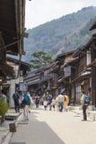 TAKAYAMA, JAPAN - MAY 03: Unidentified people at Sannomachi Stre Royalty Free Stock Photos