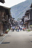 TAKAYAMA, JAPAN - MAY 03: Unidentified people at Sannomachi Stre Stock Photos