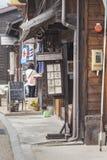 TAKAYAMA, JAPAN - MAY 03: Unidentified people at Sannomachi Stre Royalty Free Stock Photo