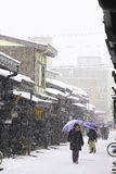 TAKAYAMA, JAPON - 19 JANVIER : Takayama dans la neige une ville qui Image stock