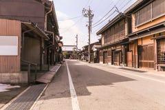 Takayama, JAPONIA - March 04, 2018: Stary traditiona lub miasteczko Zdjęcie Stock