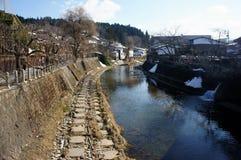 Takayama miasteczko w wiośnie obraz stock