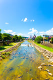 Takayama Miya-Gawa River Blue Sky Summer Day V Royalty Free Stock Photos
