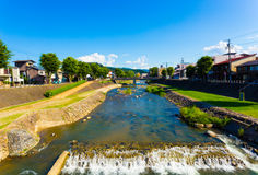 Takayama Miya-Gawa River Gifu Prefecture Daytime H Royalty Free Stock Photo