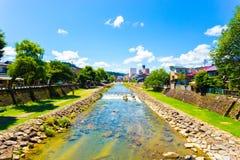 Takayama Miyagawa River Clear Sky Summer Day H Stock Photography