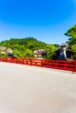 Takayama Naka-Bashi Bridge Mountain Daytime V Royalty Free Stock Images