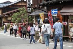 Takayama tourists Stock Photography
