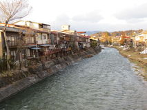Takayama. View of the ancient town of Takayama situated in the Japanese mountains Stock Photos