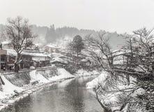 Takayama Winter. Snow fall Winter in Takayama Gifu Prefecture, Japan Stock Images