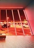 Takbelysning genom att använda Downlight och LEDD RGB-färg Arkivfoton