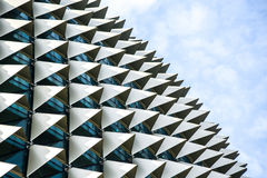 Takdetalj av promenadteatrar i Singapore Arkivfoton