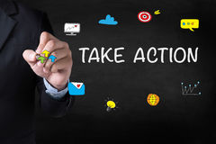 TAKE ACTION Stock Photography