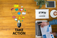 TAKE ACTION Royalty Free Stock Photos