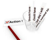 Take action concept Stock Image