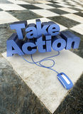 Take action floor Stock Image