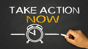 take action now Royalty Free Stock Images