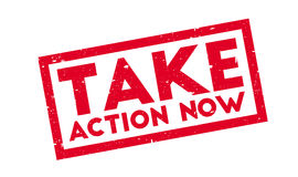 Take Action Now rubber stamp Royalty Free Stock Image
