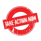 Take Action Now rubber stamp Stock Photos