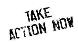 Take Action Now rubber stamp Royalty Free Stock Photo