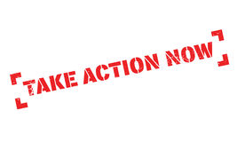 Take Action Now rubber stamp Royalty Free Stock Photography