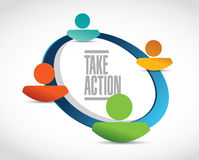Take action people community illustration design Royalty Free Stock Images